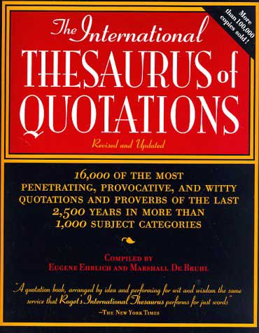 The International Thesaurus...
